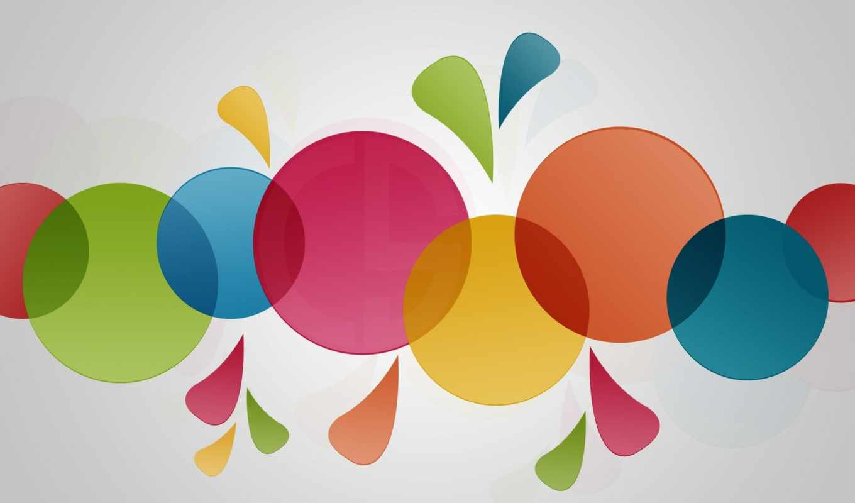 круги, минимализм, wallpaper, colorfull,