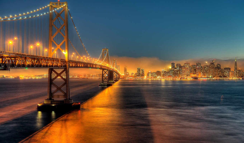 франциско, сан, сша, калифорния, картинка, картинку, часть, bridge, качественная,