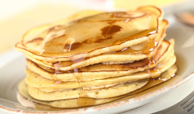 блины, мёд, еда, вкусно, картинка, тарелка, pancakes, макро,