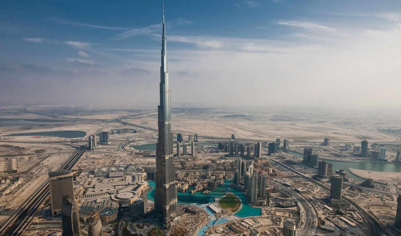 dubai, burj, khalifa, arab, landscape, uae, небоскрёб, burge, united,