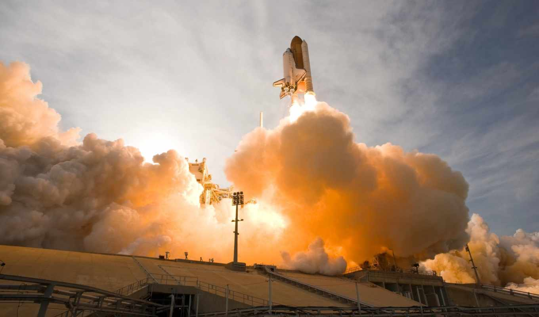 космос, сша, шатла, космического, взлёт, картинка, nasa, shuttle,
