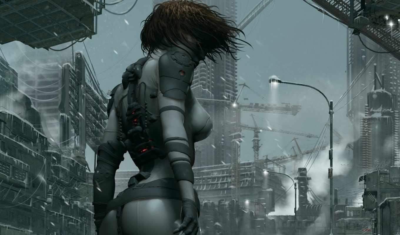 будущее, город, art, корабль, девушка, корабли, мегаполис, cosmic, будущего, фантастика,