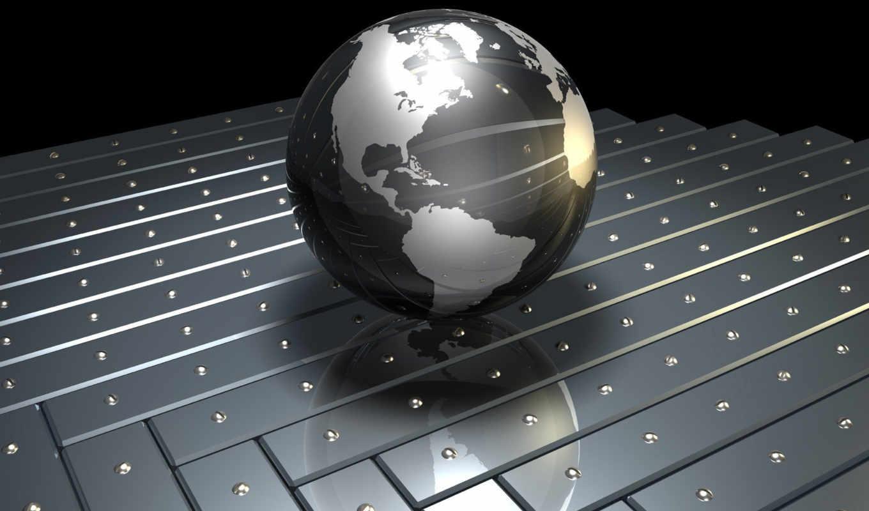 земля, планета, металл, рендеринг, digital, globe, ipad, картинка, download, iphone, desktop, save,