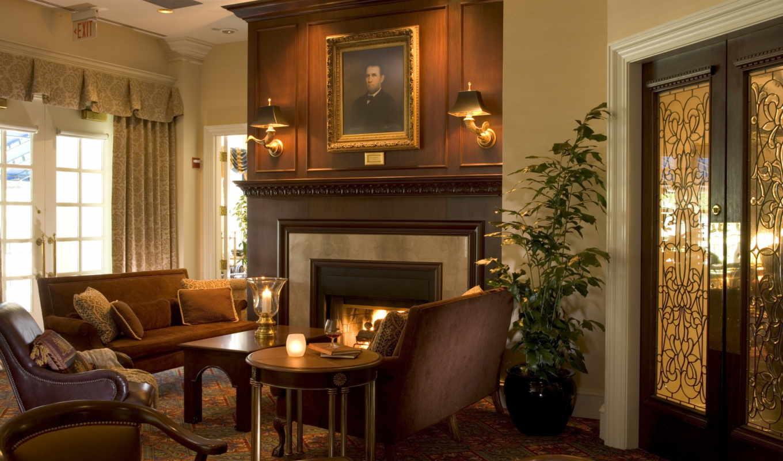 duke, golf, washington, club, durham, гостиная, inn, pictures, photos, room, hotel, камин,