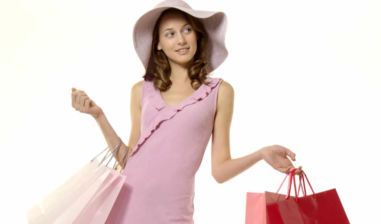 пакетов, бумажных, производственный, девушка, пакетами,