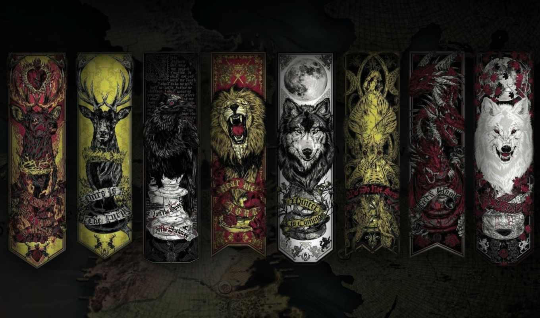 game, thrones, об,