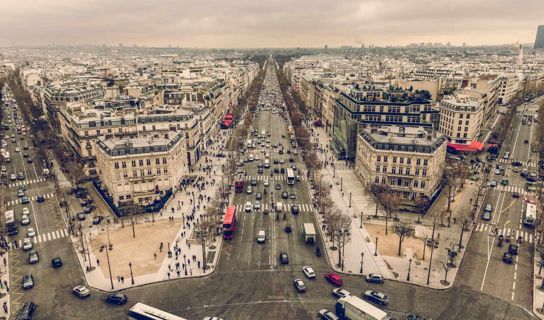 париж, cityscapes, streets, widescreen, франция, arc, free,