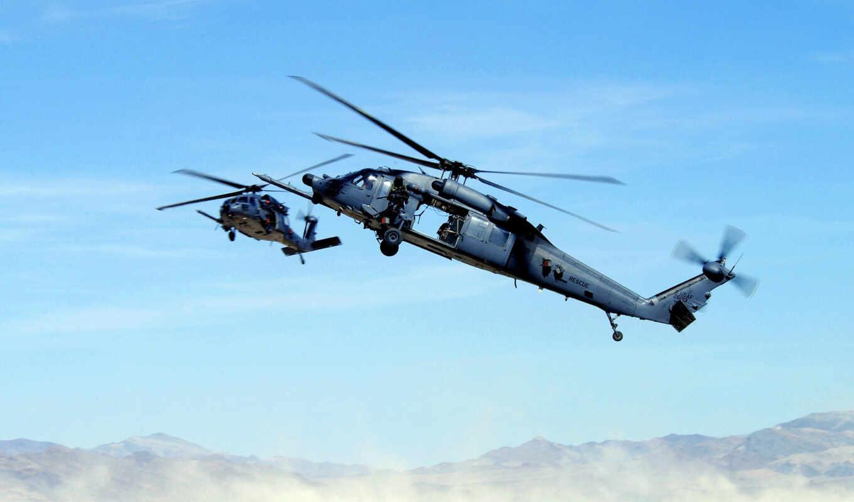 hawk, вертолет, black, uh, пулемет, дек,
