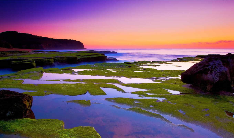 природа,, море, отмель, берег, скалы,