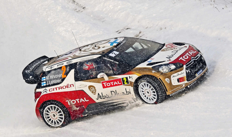rally, winter, wrc, citroen, снег, race, авто,