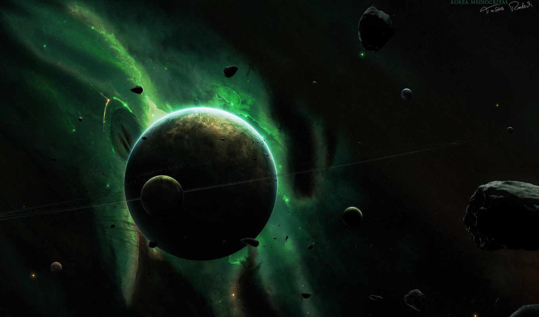 space, aurea, planets, universe, mediocritas, dark, cosmos, stars, планеты, desktop, normal, планета,