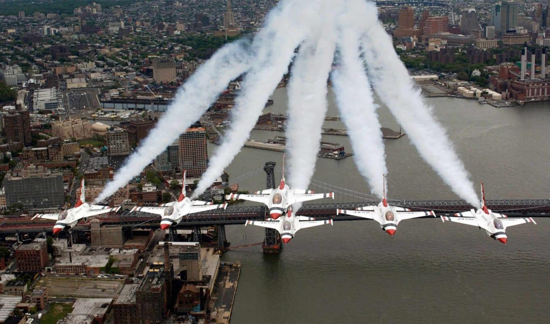 smoke, planes, aircrafts, картинку, thunderbirds, new, авиация, самолеты, posted, военные,