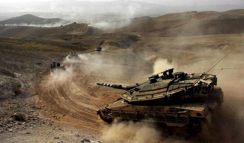 merkava, танк, пустыня, tanks, main, battle, маневры, пыль,