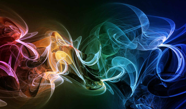 дым, радужный, abstract, colorful, desktop,