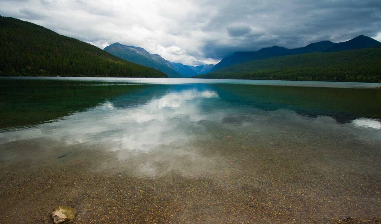 озеро, lakes, отражение, trees, high, definition, water, wide, landscape,