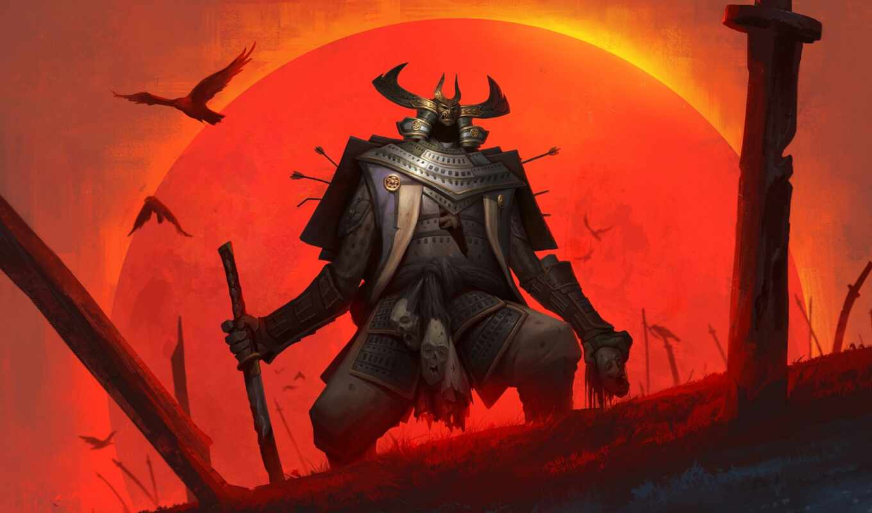 самурай, fantasy, меч, воин, доспех, fantastic, картинка