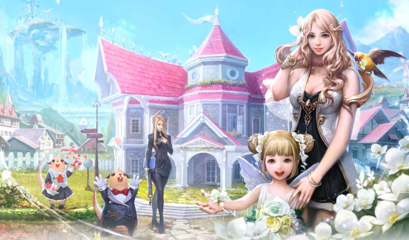 aion, game, девушка, cute, illustration, арта, fantasy, anime, anim, миньон