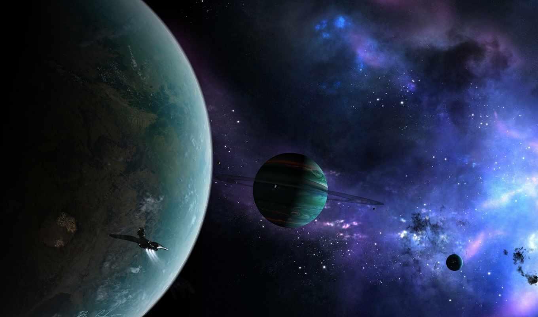 туманность, планеты, кольца, космос, корабль, regulus,