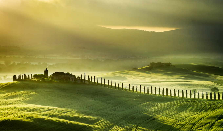 landscape, tuscany, пожаловать, toscana, italy, поле,