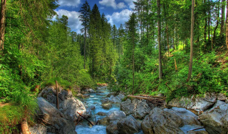 landscape, германия, картинка, бавария, природа, река,