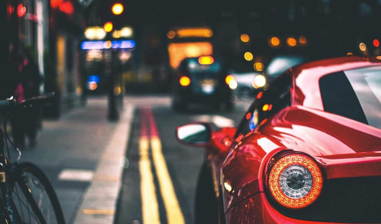 размытость, авто, фара, car, фон, фронтовой, взгляд, размытость