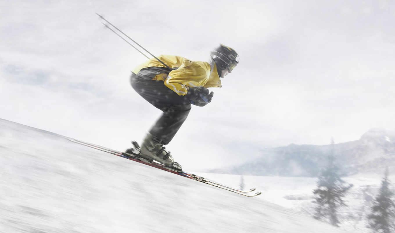 speed, skiing, спуск, лыжах, лыжи, снег, лыжник, спорт, desktop, быстрый, deniz,