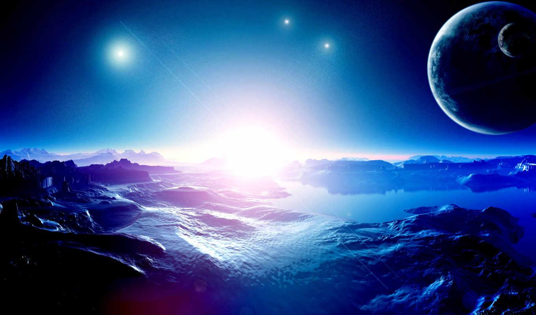 cosmos, universe, planet, land, добавлено, обоях, star,