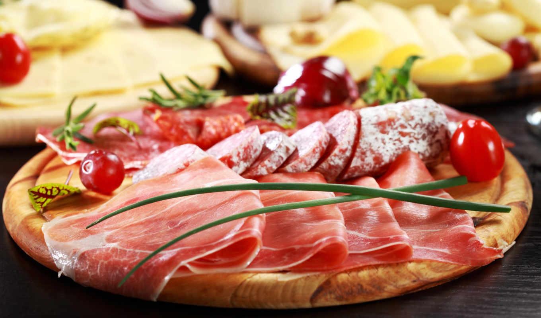 колбаса, еда, мясо, сыр, балык,