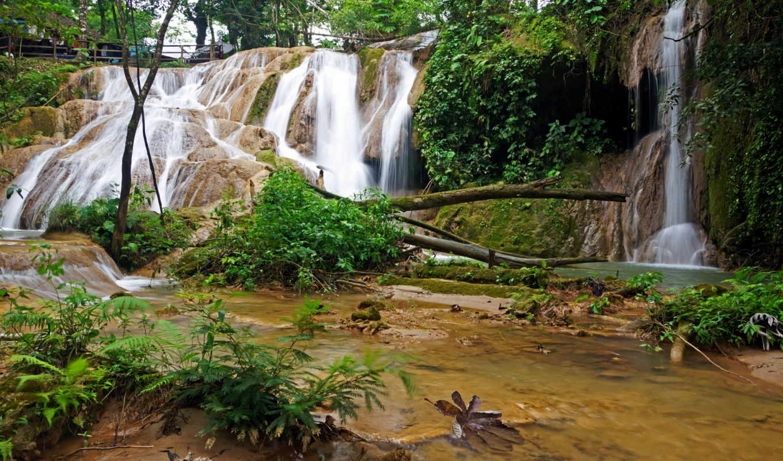 mexico, azul, чьяпас, agua, каскад, водопады, природа, водопад,