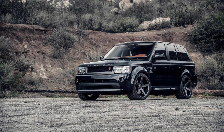 rover, range, black, land, машины,