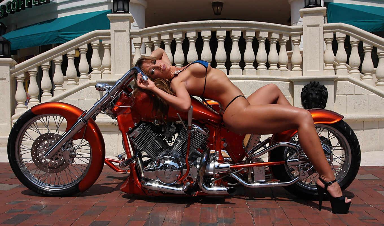devushki, мотоциклы, девушка, мото, chopper, тюнинг, sex, красивые,
