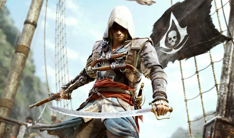 creed, assassin, black, флаг, game, soundtrack, брайан, tyler,