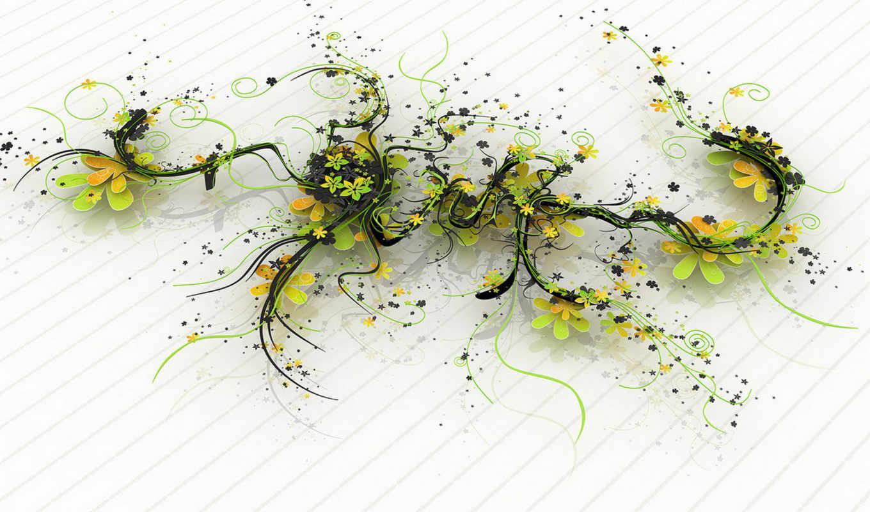 plant, nature, цветы, линии, ростки,