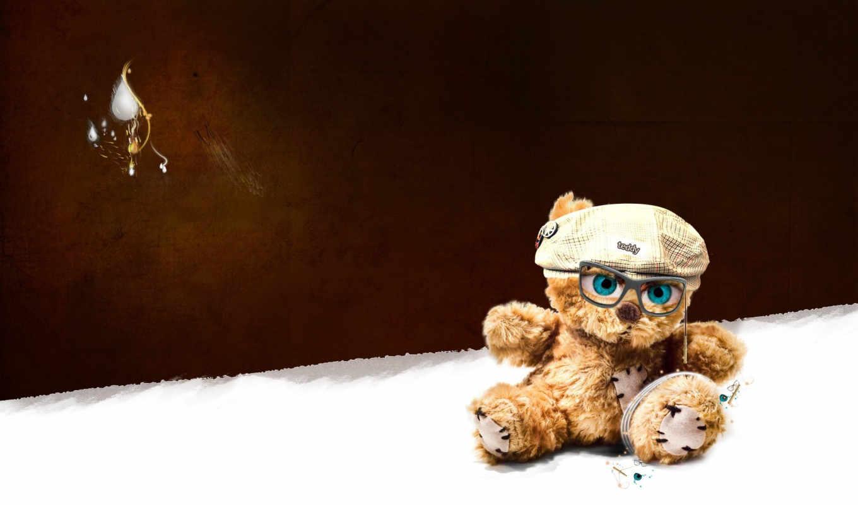 мишка, игрушка, очки, ipad, тедди, плюшевый, iphone, минимализм, photoshop, respek, facebook, нравится,