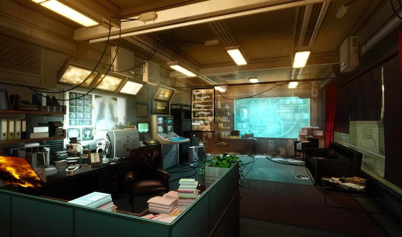 artwork, video, games, deus, art, human, concept, revolution, интерьер,