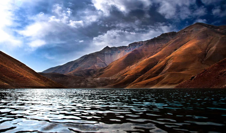 горы, landscape, озеро, небо, пейзажи -, красивый, природа,