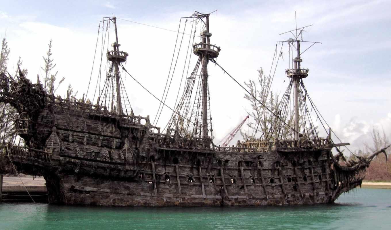 старый, корабль, кораблей, flying, dutchman, фотографий, pirates, модели, яхт, trees, ветошь,