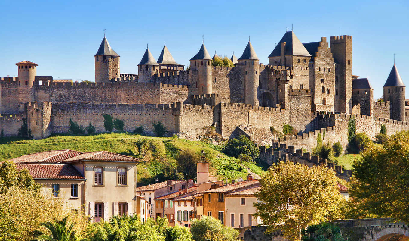 carcassonne, castle, cheap, франция, cité, самые, каркассон, fortress, город, отели,