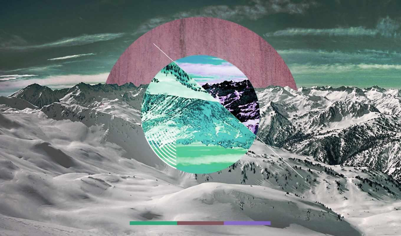 горы, природа, курортные, снежные, sun, горные, landscape, высокого, пейзажи -, разрешения, закат,