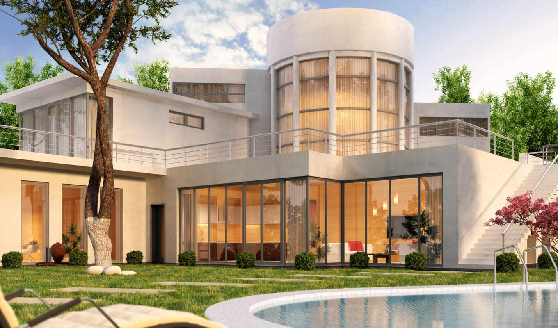 бассейн, house, современный, swimming