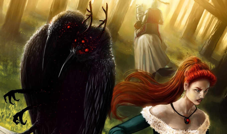 creature, fonds, ecran, fiction, fantasy, science, similar,