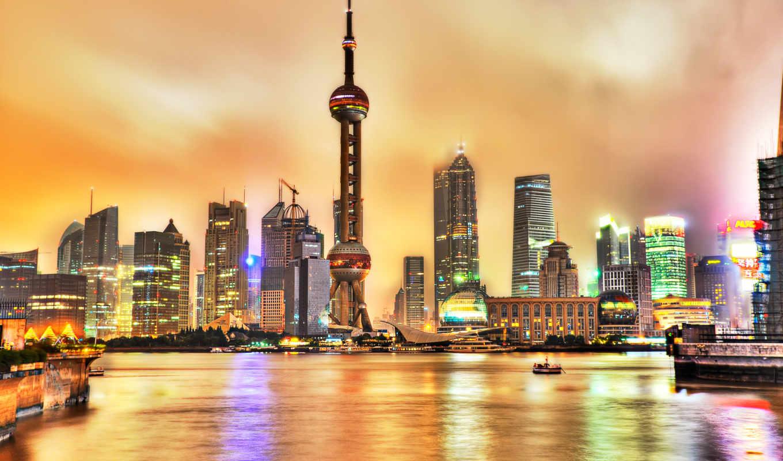 shanghai, bund, китай, картинка, города, имеет, изображение, город, горизонтали, ночные, вертикали, правой, небоскребы, this, кнопкой, across, world, картинку, download,