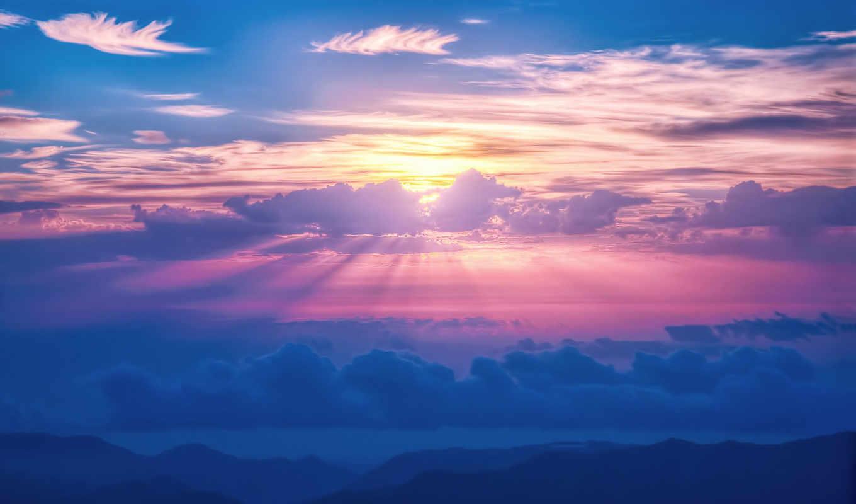 clouds, небо, pin, sun,