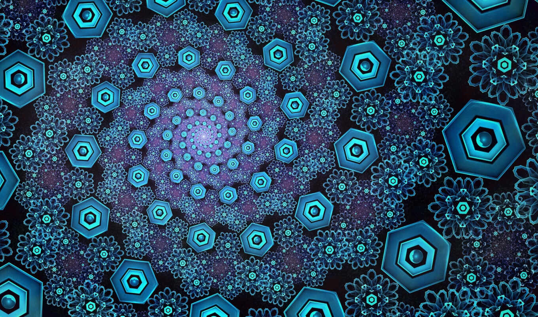 abstract, trippy, иллюзия, spiral, fractal, take, blue