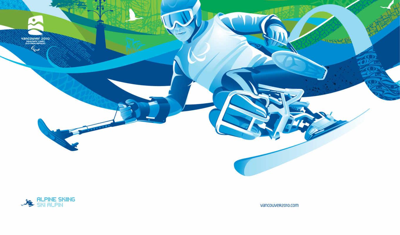 лыжи, олимпиада, альпийские, ванкувер, параолимпийские, игры, горные, vgan, alpine,
