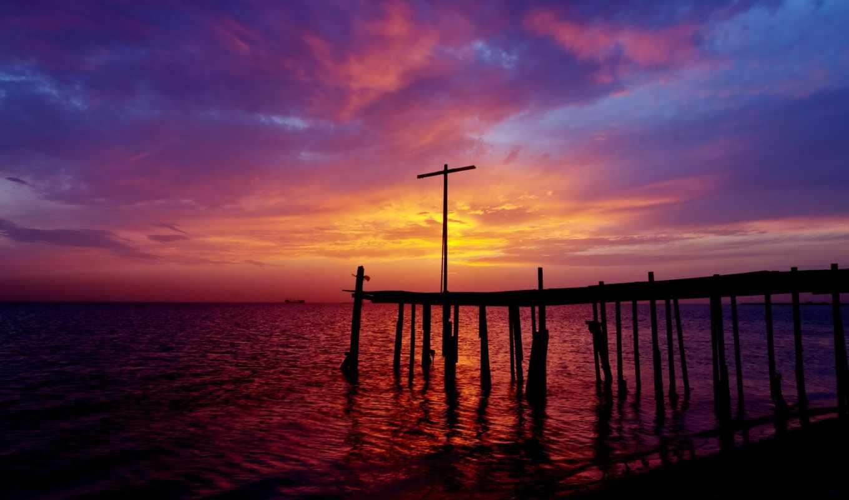персидский, залив, закат, берег, пирс, бахрейн, вечер, trance, широкоформатные, staf, sonnenuntergang, hintergrundbilder, дата, sea, golf, sky,