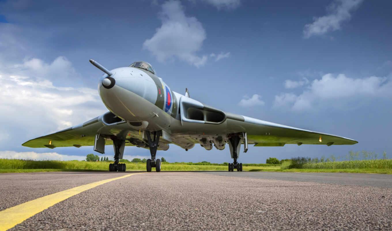 vulcan, бомбардировщик, raf, самолёт, taxiway, стена, mural, ан, plane, comfort