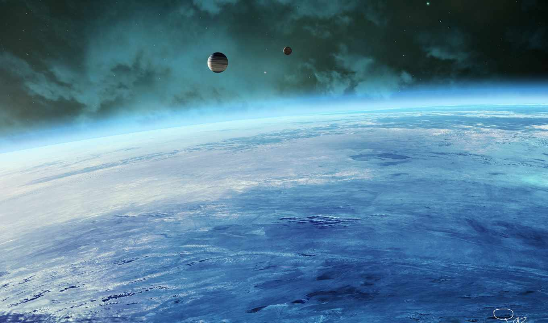 спутники, атмосфера, планета, космос, картинка, картинку,