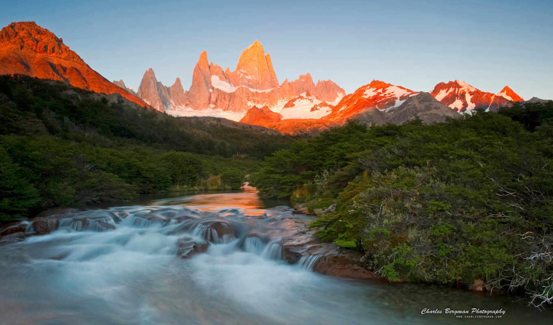 roy, fitz, природа, монте, views, patagonia, восход,