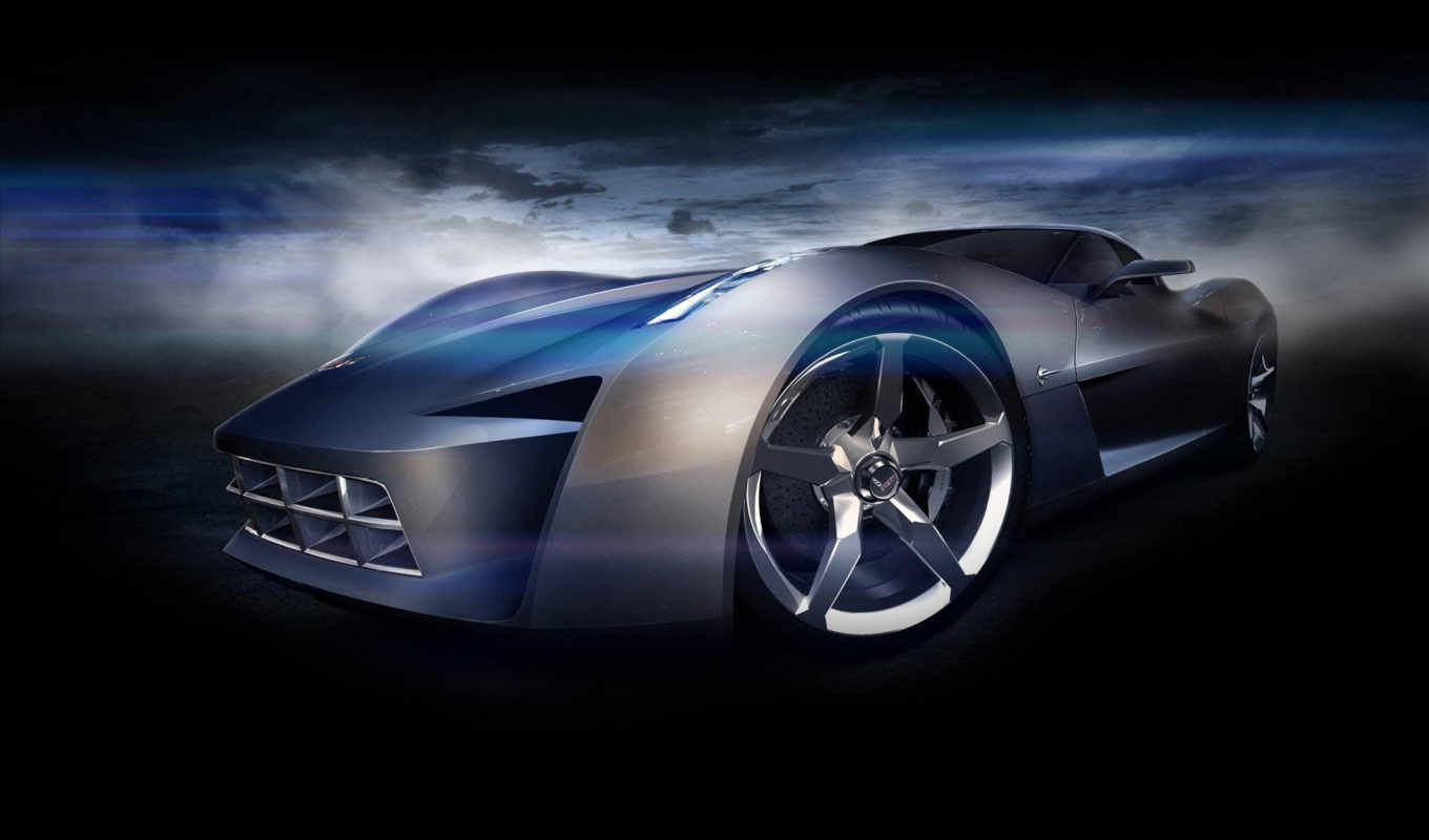 corvette, chevrolet, stingray, concept, car, cars, desktop, картинку, design, корвет,